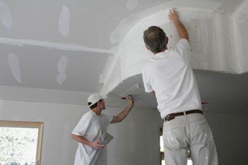 Ремонт потолка гипсокартон фото